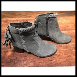 Grey Booties with Fringe Size 7